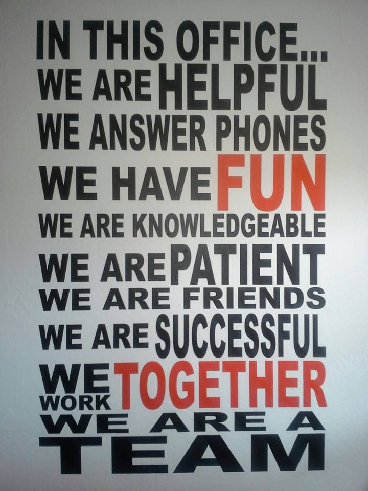 We Are A Team Wall Decal Teamwork, Motivation and Workplace - how do you define excellent customer service