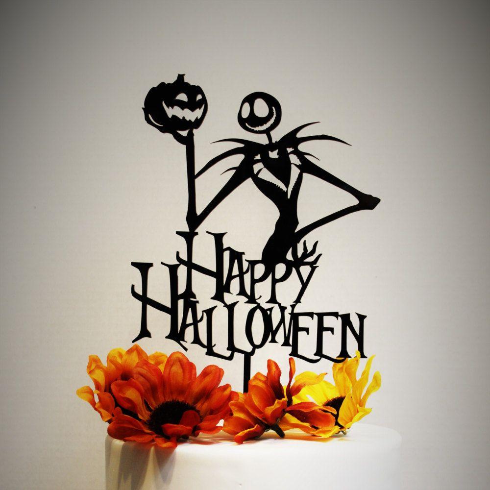 Happy Halloween Jack Skellington Cake Topper Nightmare Before