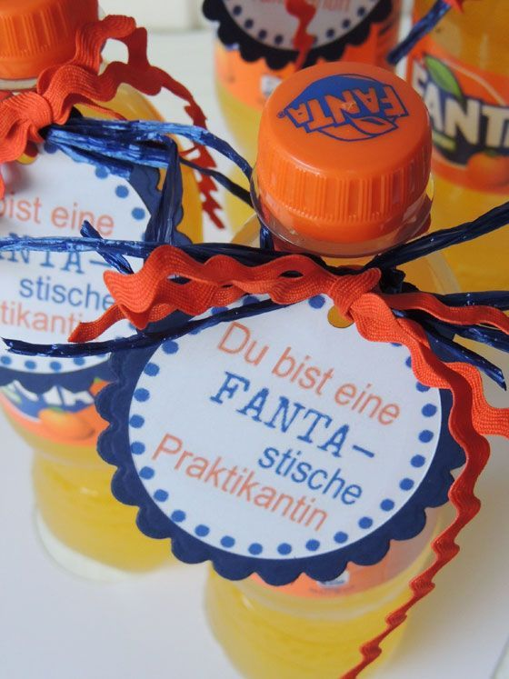 """Kleines Abschiedsgeschenk für alle die """"Fanta-stisch"""" sind #lustigegeschenke"""