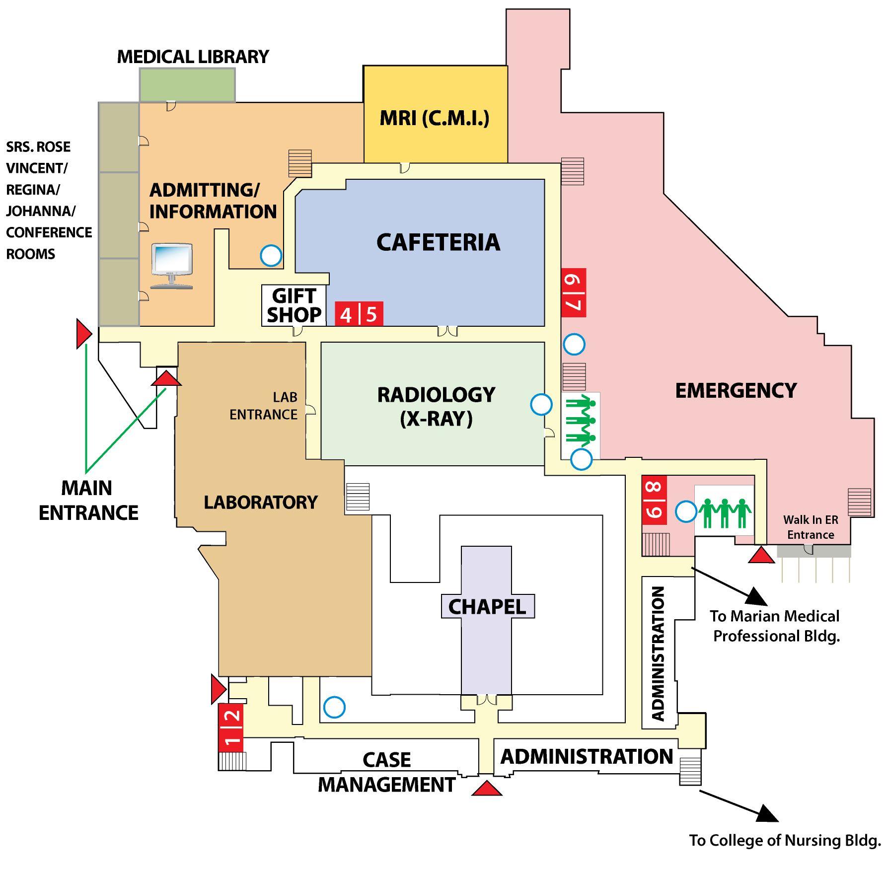 Hospital Layout » St. Elizabeth Medical Center hospital
