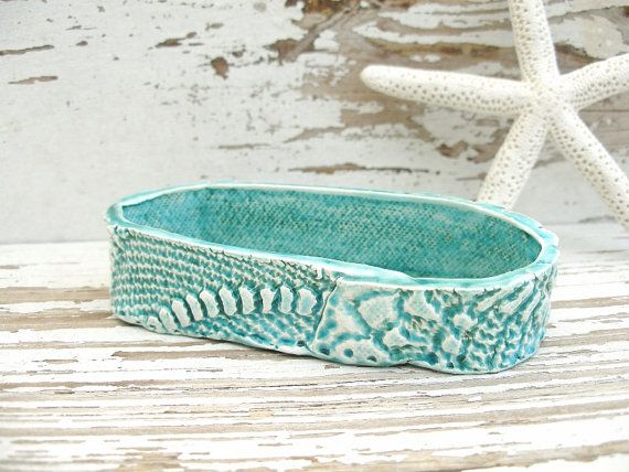 Rustic business card holder green shabby chic by SeamariesBounty