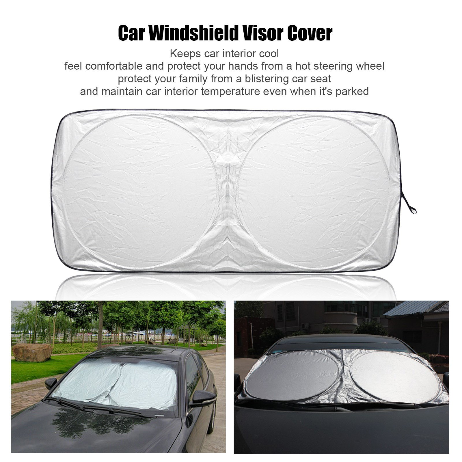 Auto Front Rear Window Sun Shade Car Windshield Visor Cover Block