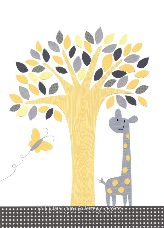 The Giraffe and the Butterfly-Nursery Art Baby Boy Baby Room Art ...