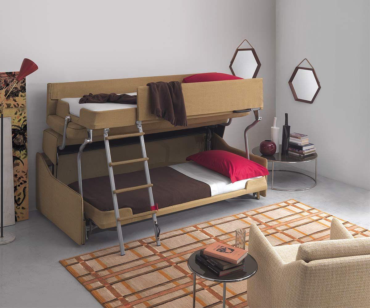 design etagenbett multibed castello von pol74 modernes hochbett fr kinderzimmer - Etagenbettcouch