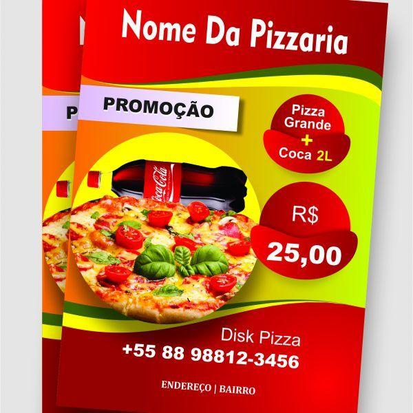 Panfleto Para Restaurante e Pizzaria Promocional - M1 Pizzas, Web