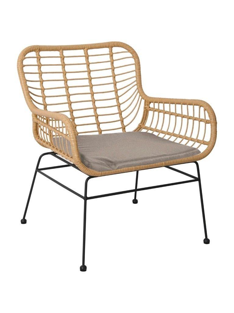 Lounge Stoel Met Kussen.Terras Loungestoel Rattan Inclusief Kussen Terrasstoelen
