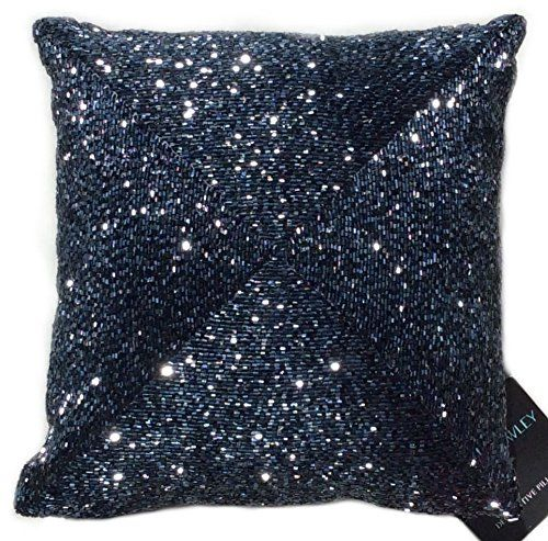 Cynthia Rowley Beaded Decorative Toss Pillow Cover 100% ...