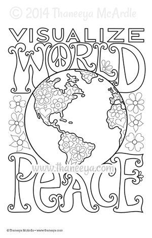 Visualize World Peace Coloring Page By Thaneeya Mcardle Coloring