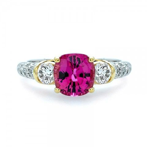 Pink Sapphire and Diamond Ring  // J.M. Edwards Jewelry // Cary, NC