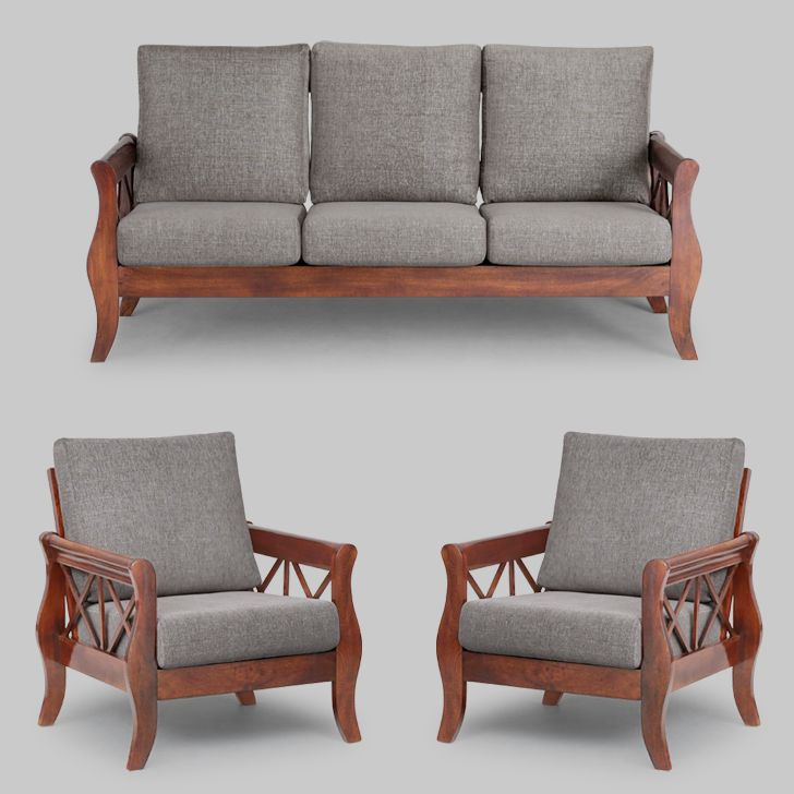 Surprising Arezzo Sofa Set 3 1 1 Grey And Honey From Elmwood At Pdpeps Interior Chair Design Pdpepsorg