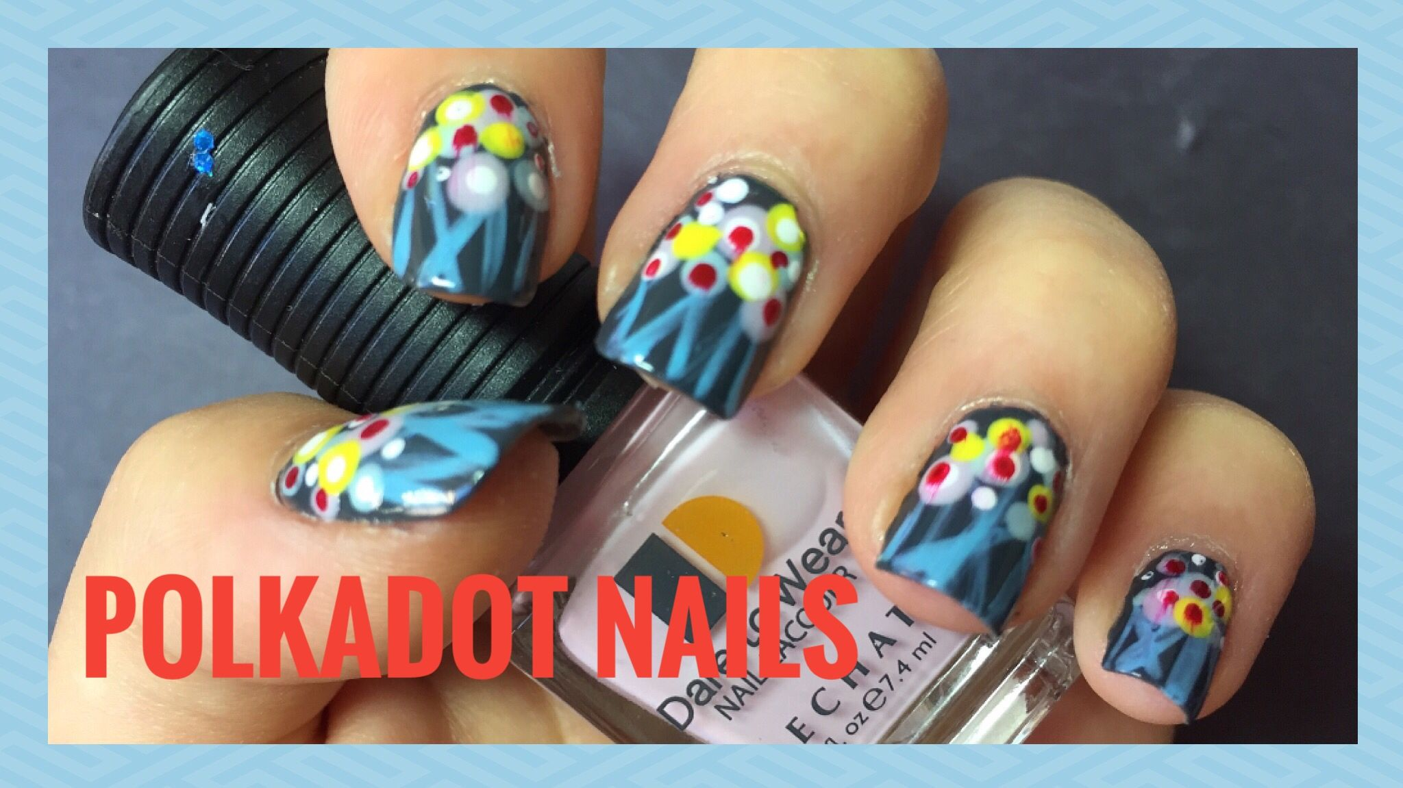 Easy polka dot nails quick and simple nail design for beginners