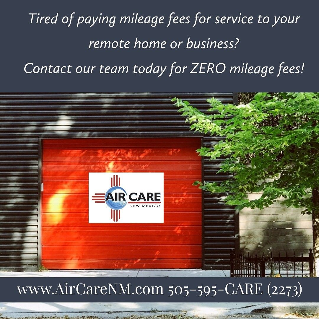 Air Care Features Zero Additional Mileage Fees For Hvac Service