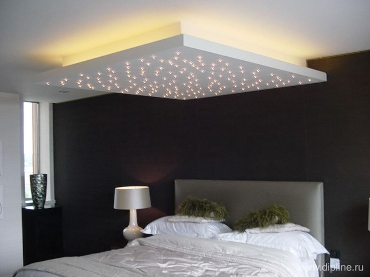 Ciel de lit faux plafond suspendu led d coration d 39 int rieur pinterest faux plafond for Lit suspendu