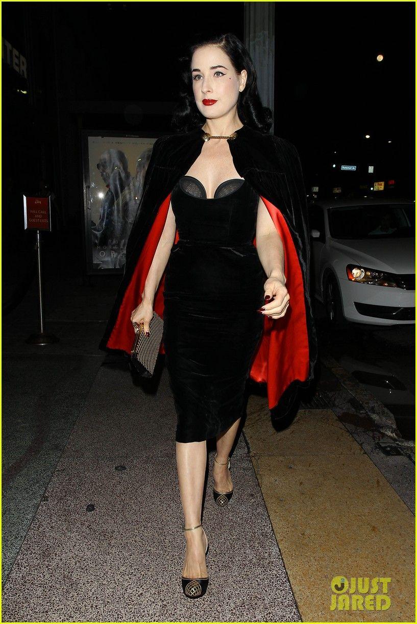 Dita Wearing Her Black Velvet Showcase Dress A Vintage Black Velvet Cape Red Silk Interior Lining Louboutin Sh Dita Von Teese Dita Von Teese Style Dita Von [ 1222 x 817 Pixel ]