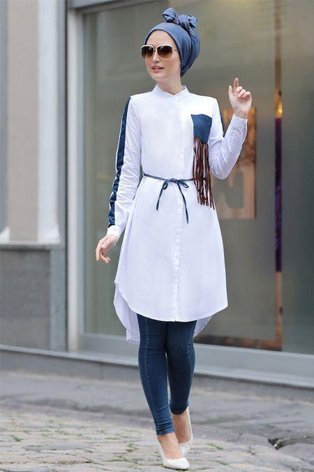 How to Wear High,Low Dress with Hijab \u2013 Girls Hijab Style