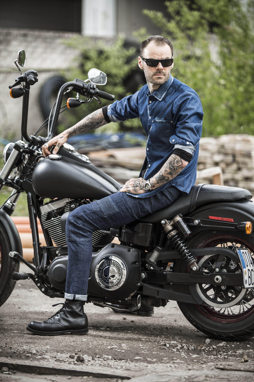 Karl Navy Men S Slim Fit Cordura Motorcycle Jeans Con Imagenes