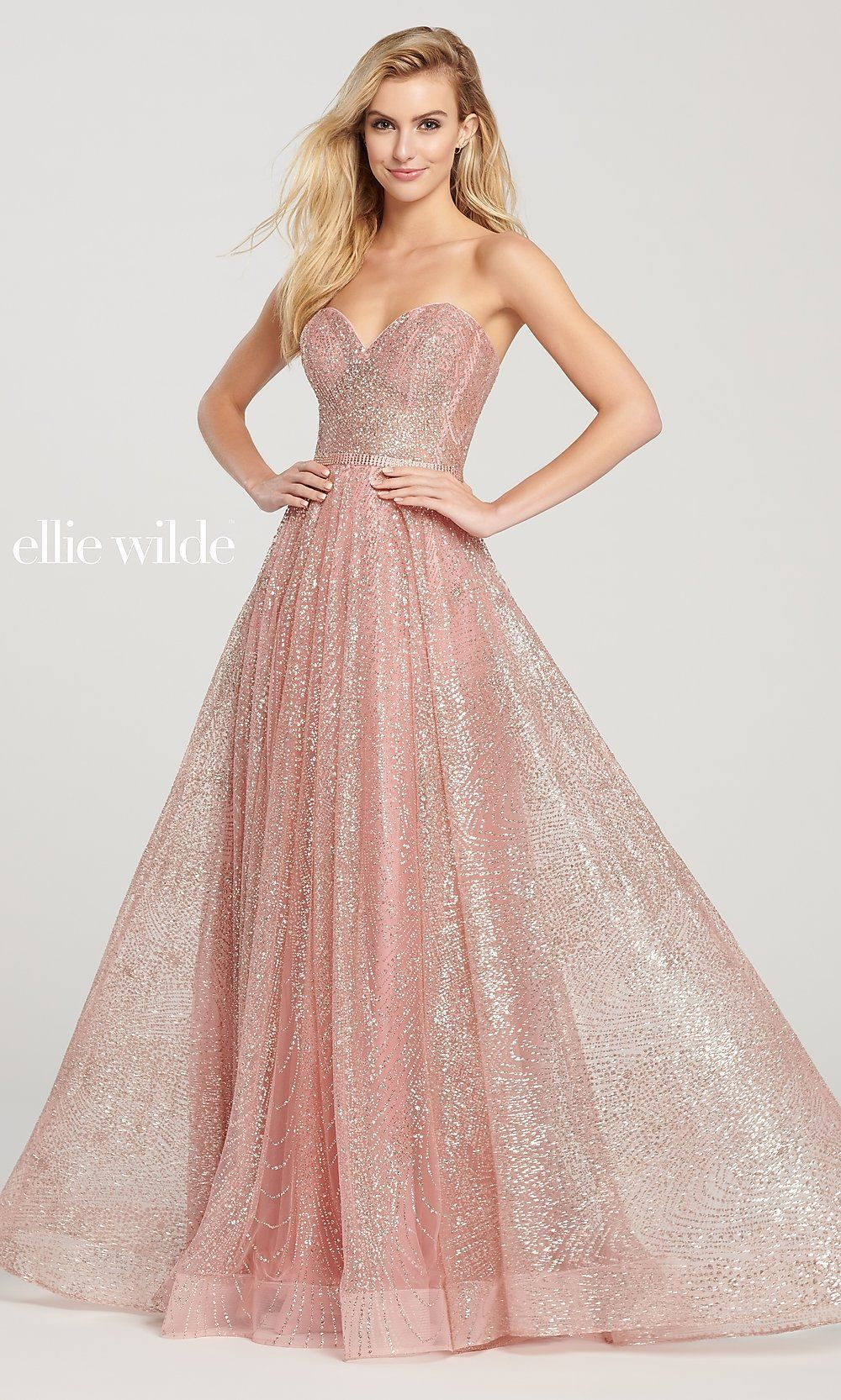 Glitter A Line Prom Dress With A Sheer Bodice Gorgeous Prom Dresses Prom Dresses Sleeveless Prom Dresses [ 1666 x 1000 Pixel ]