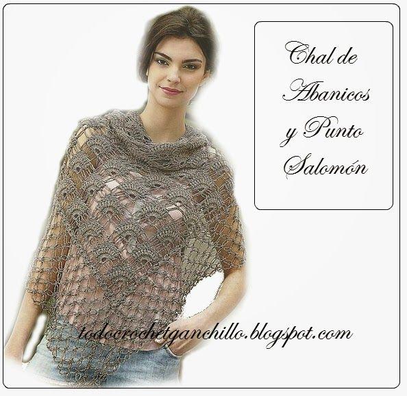 Todo crochet | Pinterest | Patrones de chal, Salomón y Chal