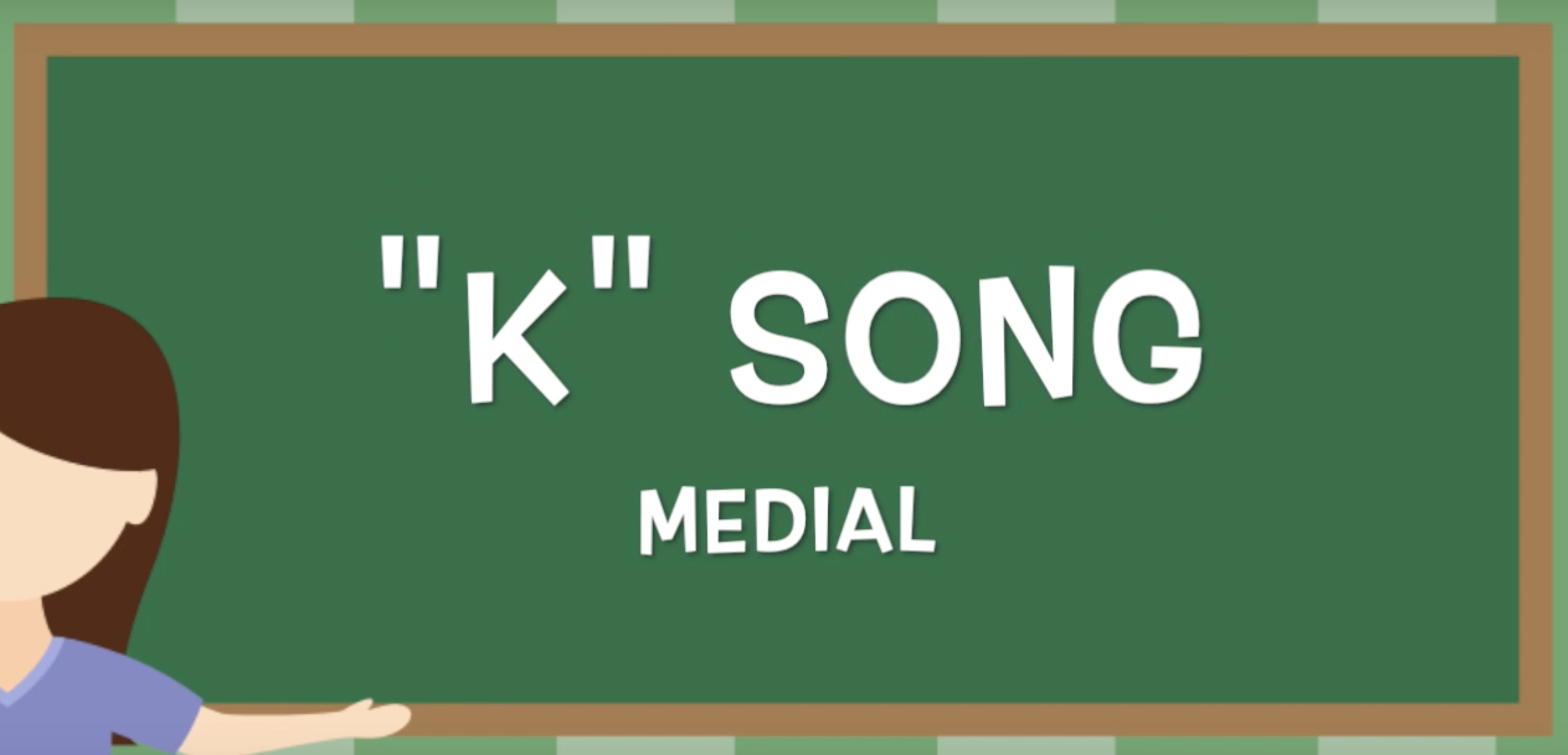 This Is A Speech And Language Song That Targets K In The
