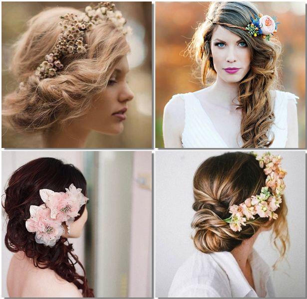 tendencias peinados con flores