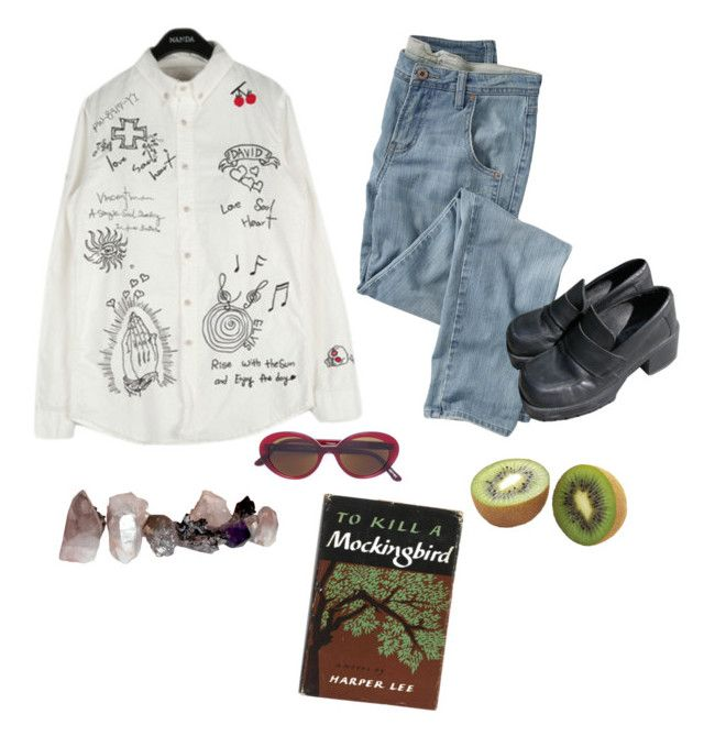 """Untitled #73"" by honnybee on Polyvore featuring Wrap and Oliver Peoples"