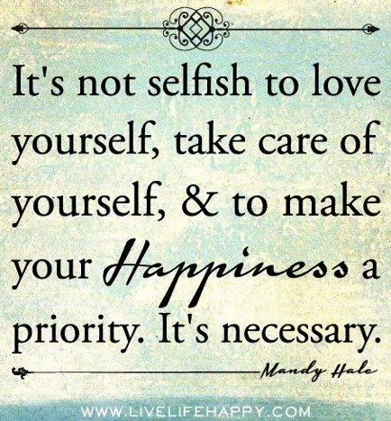 Happiness a priority quote via www.LiveLifeHappy.com