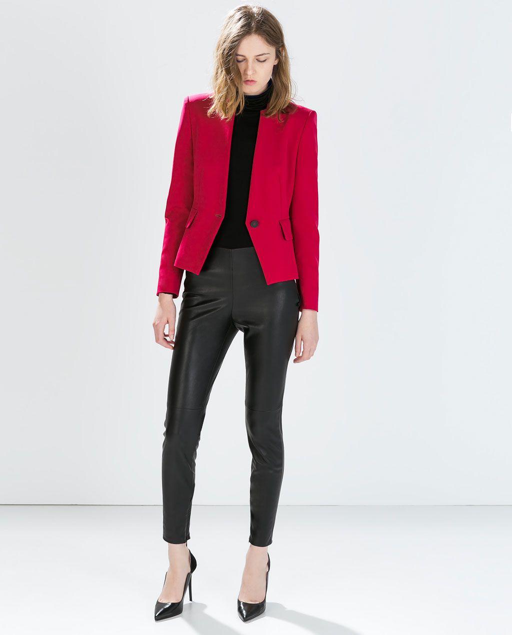 9a5ed03fc1a8 Blazer court - Zara Veste Femme Zara
