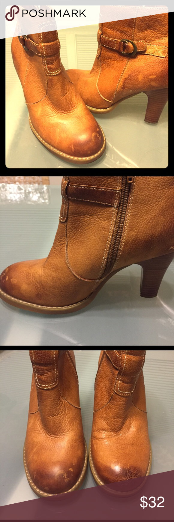"""Super sensational Brown boots, 3"""" heels, w6 So much character and personality bare traps  Shoes Ankle Boots & Booties"""