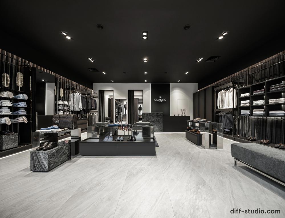 Diff Studio Men S Clothing Store In Kiev Luxury Closets Design Clothing Store Interior Luxurious Bedrooms