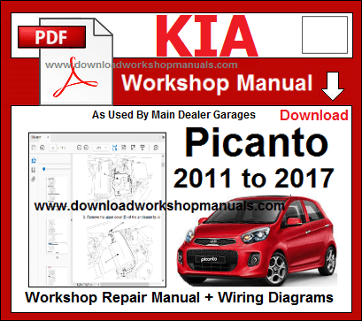Kia Picanto 2011 To 2017 Workshop Repair Manual Kia Picanto Picanto Repair Manuals