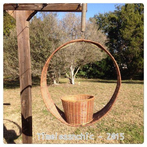 Wicker Basket  Bohemian Decor  Garden Decor  by TimelessNchic