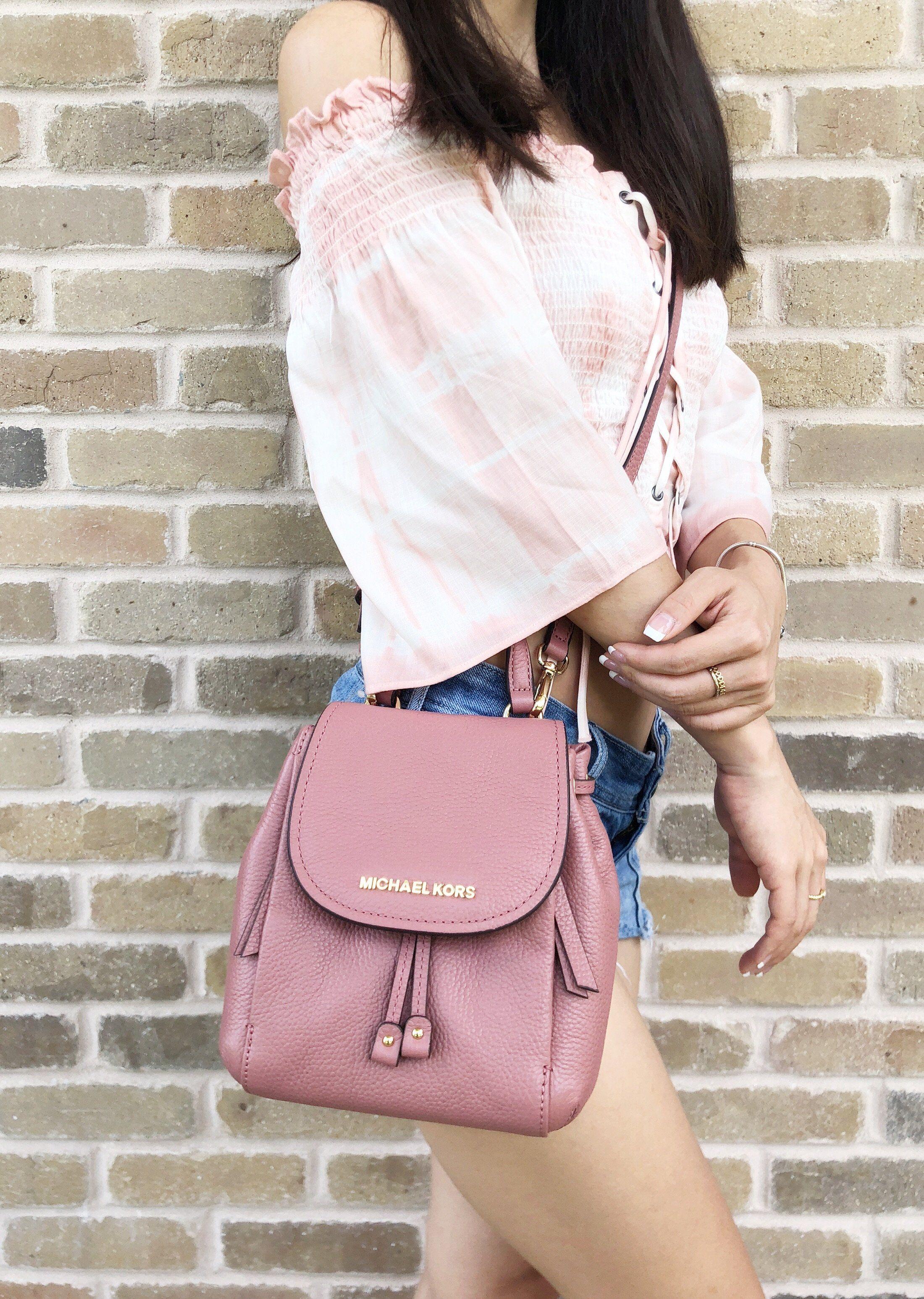 3d8168dddd8f ... get michael kors mini riley small crossbody rose pink backpack style  handbags gabysbags info for 2fbce