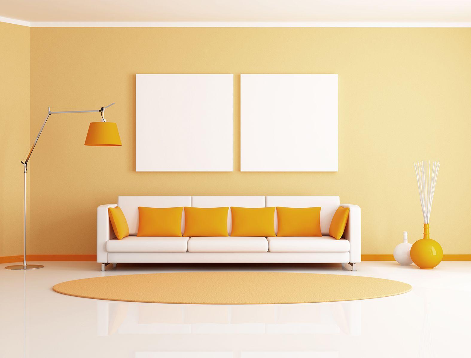 Dale un toque de color a tu espacio para hacerlo más acogedor ...