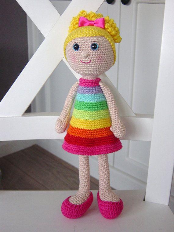 Rainbow Girl Pattern Glücksbärchi Häkeln Pinterest Crochê