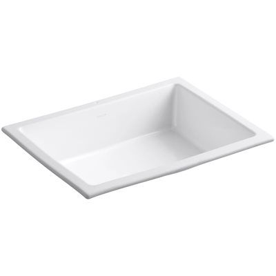 Kohler 2882 0 Verticyl Undermount Rectangular Bathroom Sink Overflow Undermount Bathroom Sink