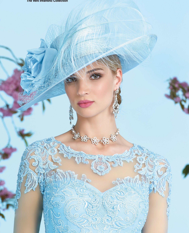 Ronald joyce dress with coat colour blue Мода pinterest
