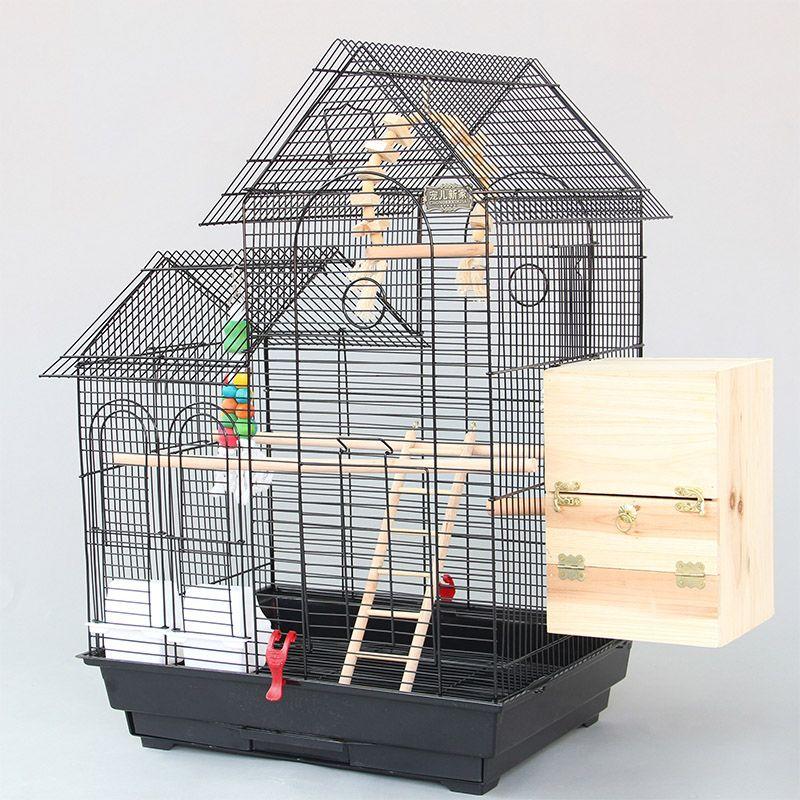 Large Roof Design Bird Cages Houses Metal Iron Parakeet