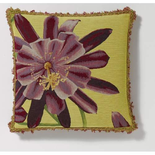 Gold Exotic Flower Pillow