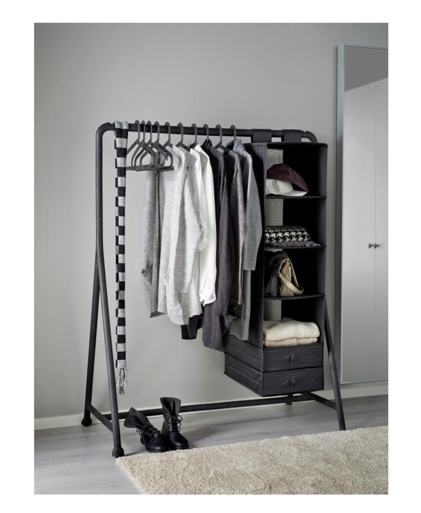 TURBO Clothes rack, indooroutdoor black 46 18x23 14