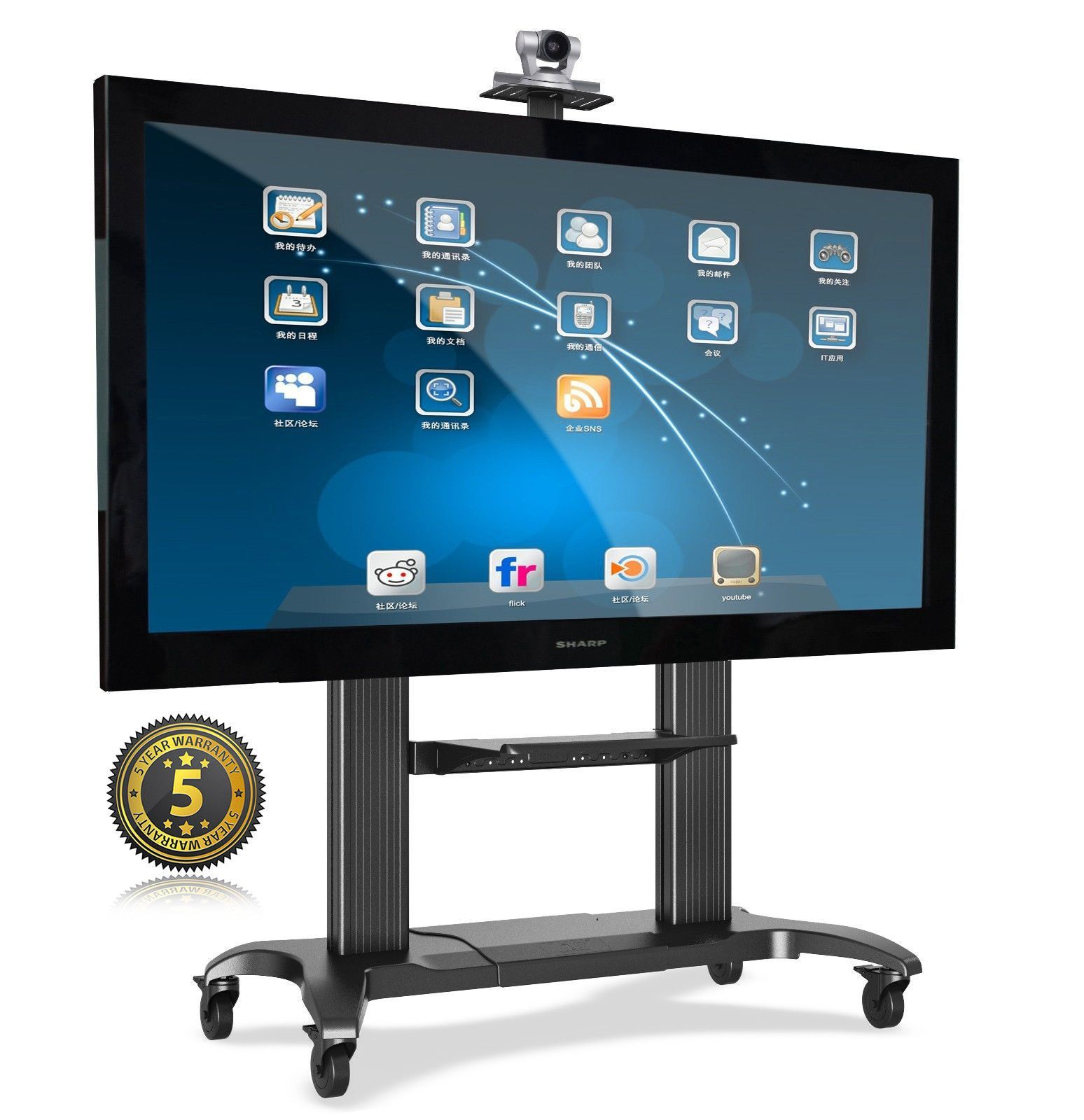 universal mobile heavy duty tv cart tv stand with mount for 60 39 39 100 inch flat panel screens. Black Bedroom Furniture Sets. Home Design Ideas