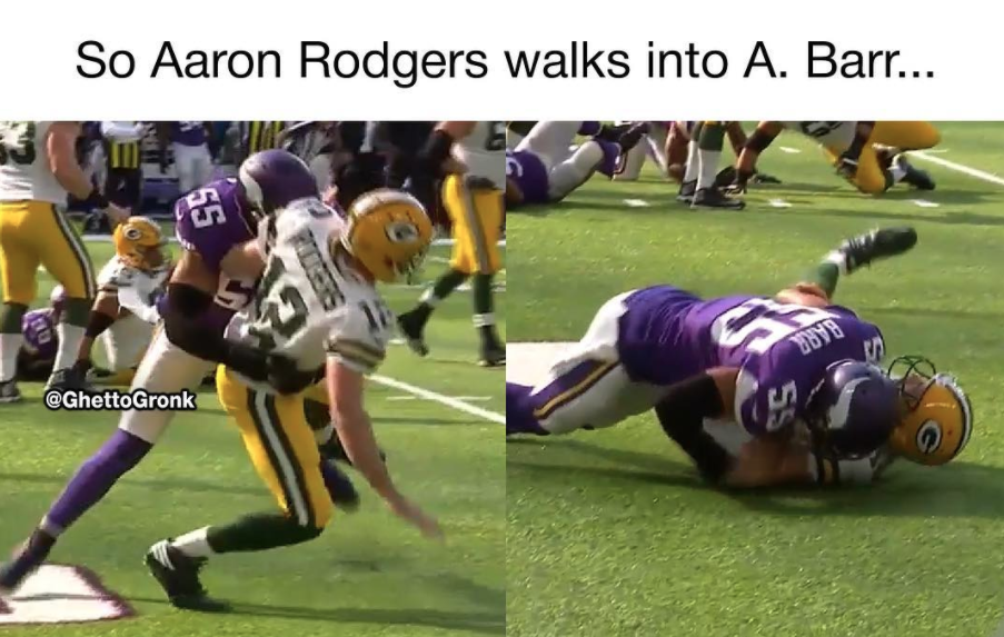b49a93a4559239161297c3dac6f0c301 top 10 funny aaron rodgers injury memes hurt, broken collarbone