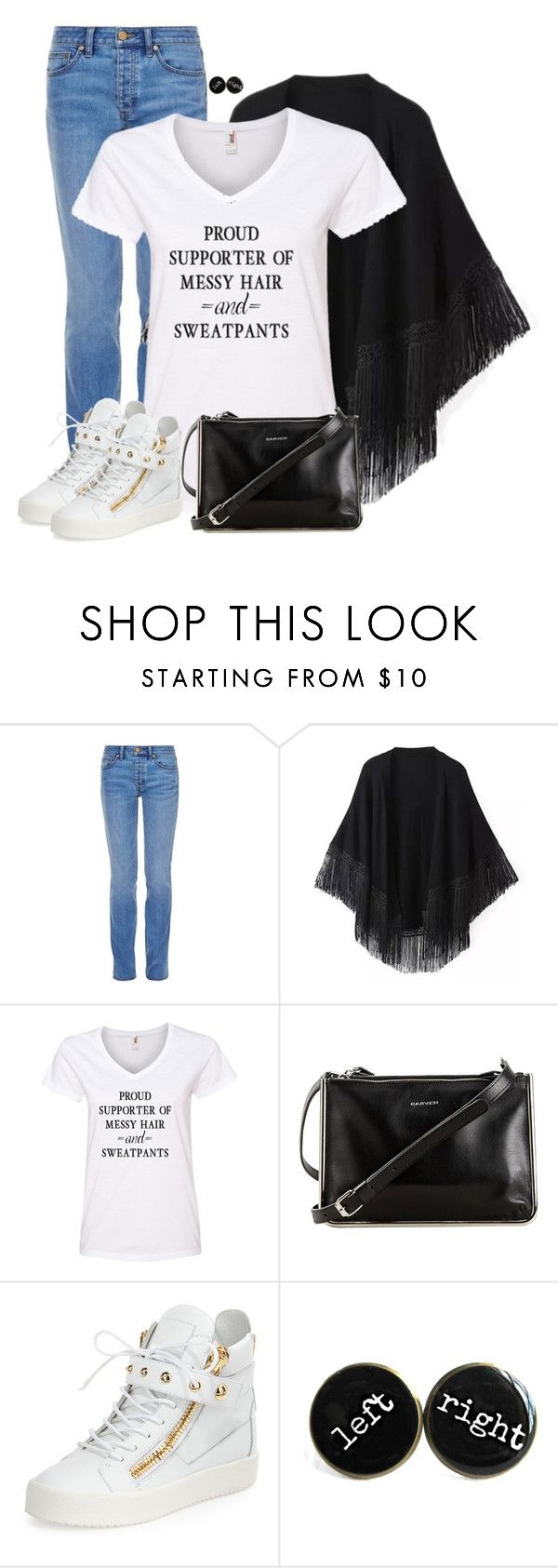 """Shawl"" by cnh92 ❤ liked on Polyvore featuring Tory Burch, Carven and Giuseppe Zanotti"
