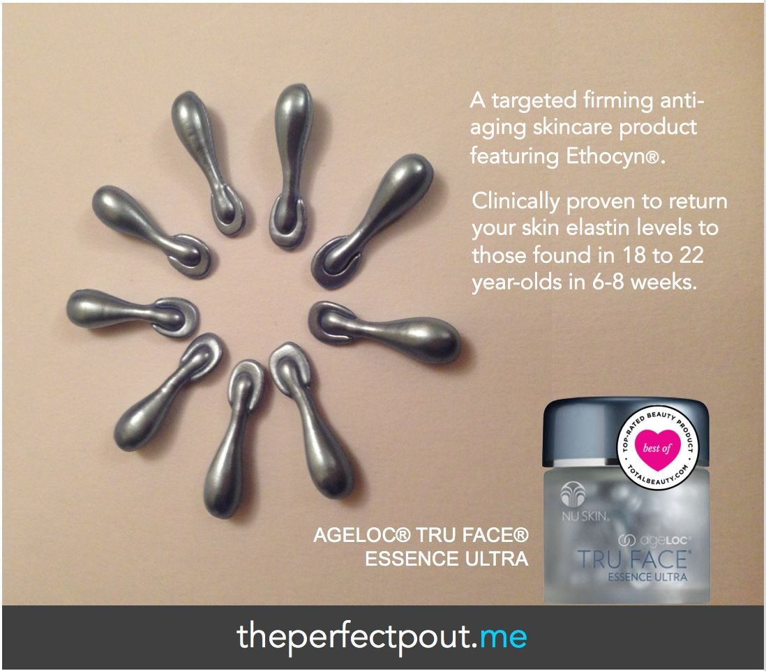 Did you know ageLOC® Tru Face® Essence Ultra was voted one of the top facial firming products by TotalBeauty.com? ageLOC® Tru Face® Essence Ultra, formulated with Ethocyn®, targets the sources of aging that lead to the loss of firmness. Ethocyn®enhances elastin production, resulting in improvement in facial and neck contours. Ethocyn®studies have been conducted on different ethnic skin types with similar results—returning skin elastin levels to those found in 18 to 22-year-olds.