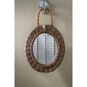 spiegel rustic rattan mirror oval riviera maison idee n voor het huis home pinterest rattan. Black Bedroom Furniture Sets. Home Design Ideas
