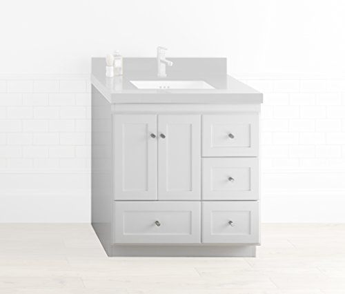 RONBOW Shaker 30 Inch Bathroom Vanity Base Cabinet With Soft Close Wood  Door Left Cabinet Drawer