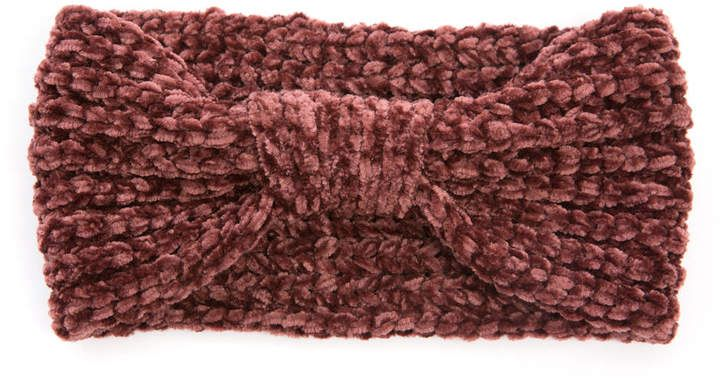 Look By M Look by M Knot Front Chenille Ear Warmer #Front