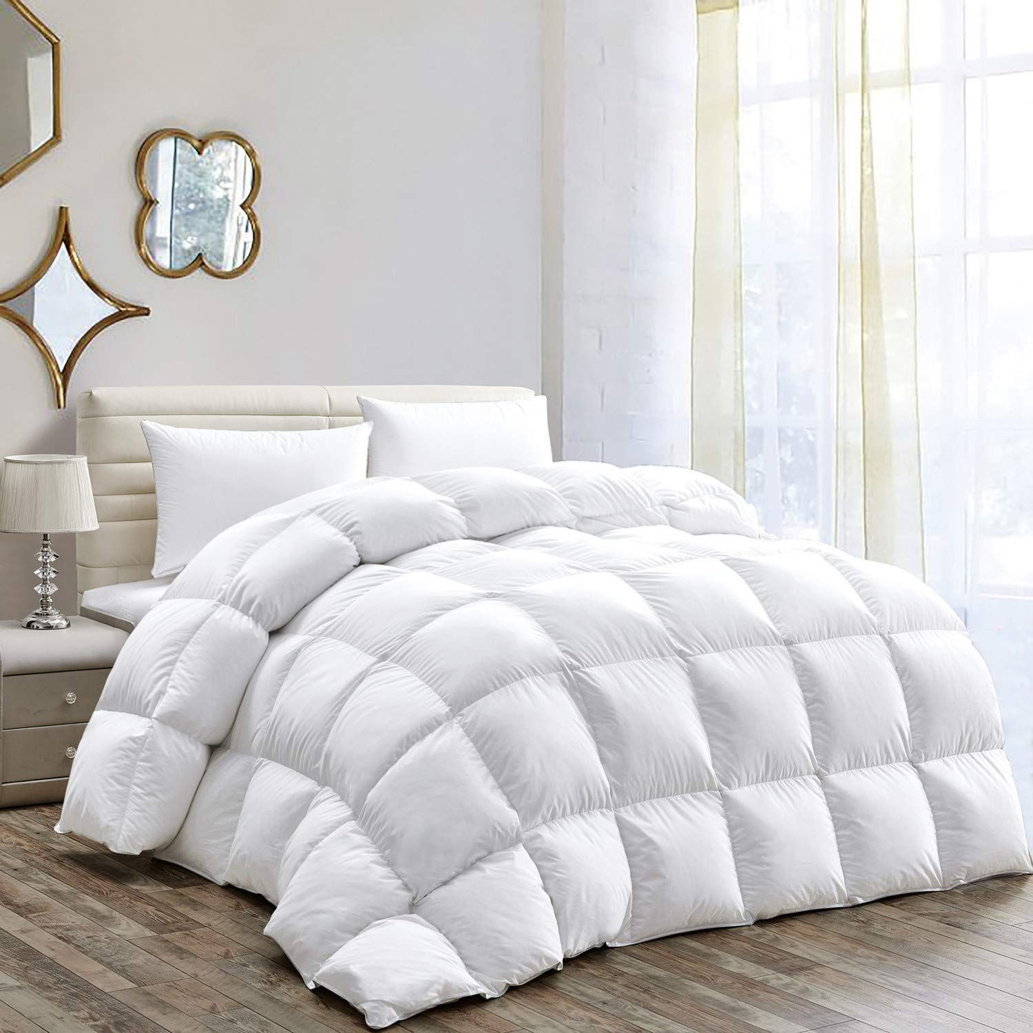 Hombys All Seasons Goose Down Comforter Queen Size Duvet Insert Feather In 2020 Queen Size Duvet Down Comforter Duvet Insert