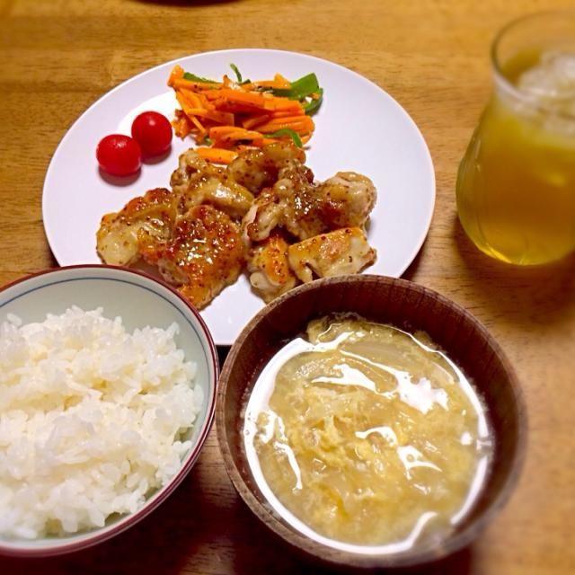 作ってみたかった♡ 思った以上に美味しくできた(≧∀≦) - 4件のもぐもぐ - ハニーマスタードチキン&玉ねぎスープ by hiromy0106