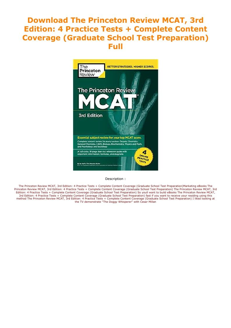 Download the princeton review mcat 3rd edition 4
