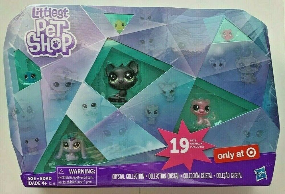 Littlest Pet Shop Crystal Collection 19 Pets Hasbro Lps Exclusive Jade Catkin Hasbro In 2020 Little Pet Shop Needle Felted Animals Disney Coloring Pages